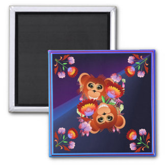 Year Of The Monkey 2 Inch Square Magnet