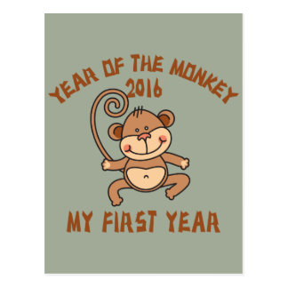 Year of The Monkey Baby 2016 Postcard