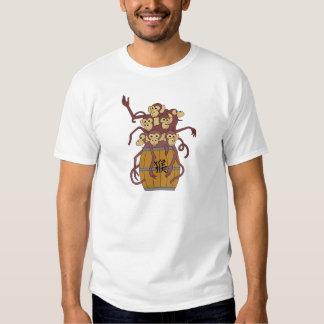 Year of The Monkey Barrel Full of Monkeys T-shirt