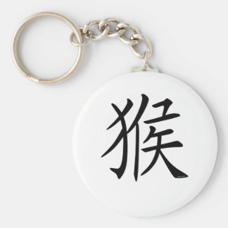 Year of the Monkey Basic Round Button Keychain