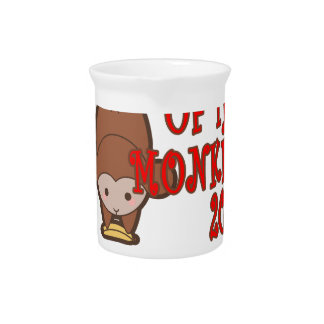 Year of the Monkey - Chinese Lunar New Year 2016 T Drink Pitcher