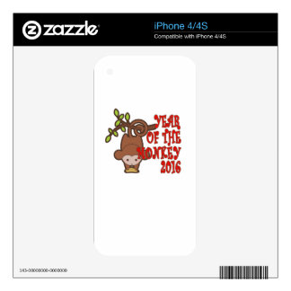 Year of the Monkey - Chinese Lunar New Year 2016 T iPhone 4 Decals