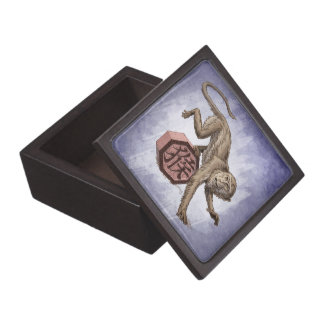 Year of the Monkey Chinese Zodiac Animal Premium Keepsake Box
