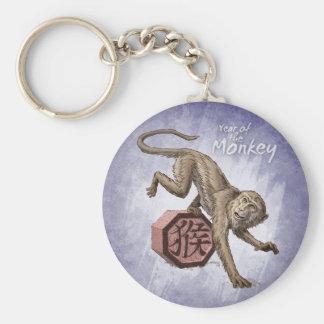 Year of the Monkey Chinese Zodiac Art Keychain