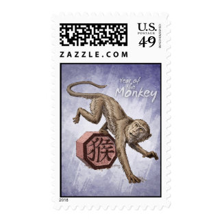Year of the Monkey Chinese Zodiac Art Postage
