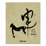 Year of the Monkey - Chinese Zodiac Poster