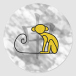 Year of the Monkey Classic Round Sticker