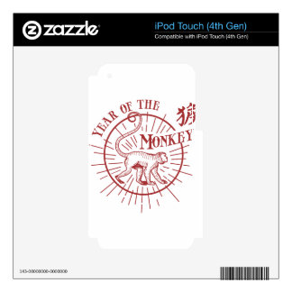 """""""Year of the Monkey"""" iPod Touch 4G Decal"""