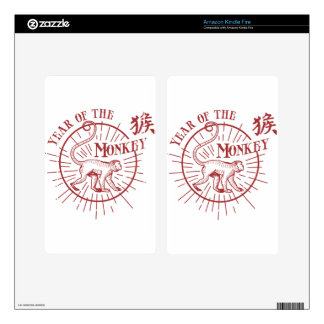 """""""Year of the Monkey"""" Kindle Fire Decals"""