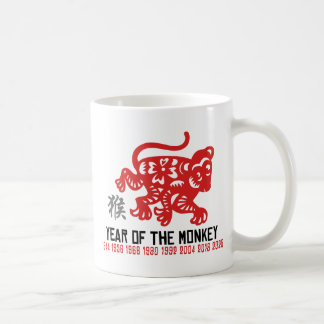 Year of The Monkey Paper Cut Coffee Mug