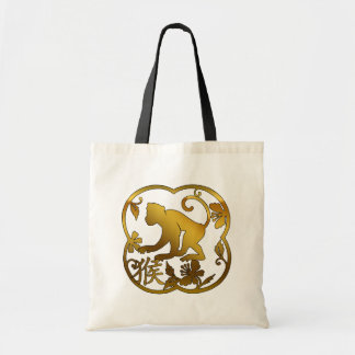 Year of The Monkey Paper Cut Tote Bag