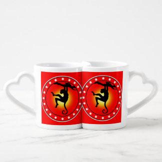 Year of the Monkey Couples' Coffee Mug Set