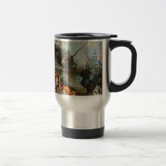 Year of the Monkey Rococo Painting Travel Mug
