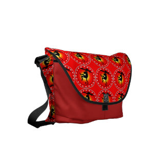 Year of the Monkey Small Messenger Bag
