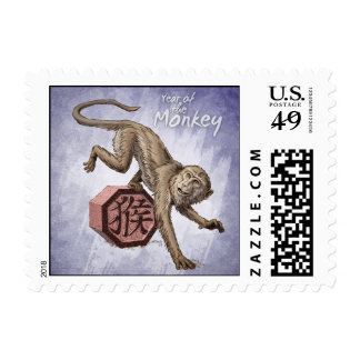 Year of the Monkey Small Postage