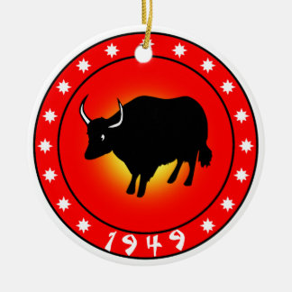 Year of the Ox 1949 Ceramic Ornament