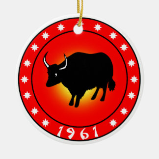 Year of the Ox 1961 Ceramic Ornament