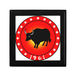 Year of the Ox 1961 Jewelry Box