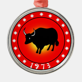 Year of the Ox 1973 Metal Ornament