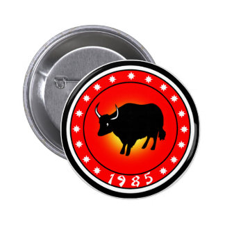 Year of the Ox 1985 2 Inch Round Button