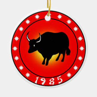 Year of the Ox 1985 Ceramic Ornament