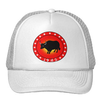 Year of the Ox 1985 Hats