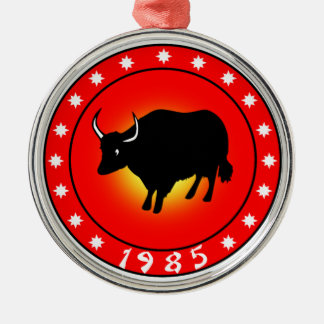 Year of the Ox 1985 Metal Ornament