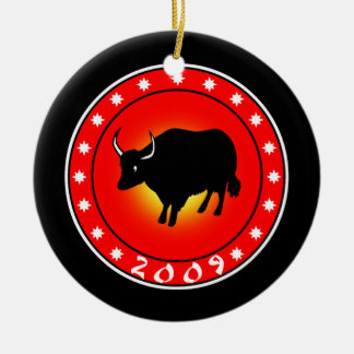 Year of the Ox 2009 Ceramic Ornament