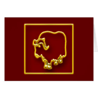 Year of the Ox - 2009 - Customized Greeting Card