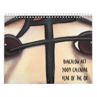 Year of the Ox, Bungalow Art2009 CalendarYear o... Wall Calendar