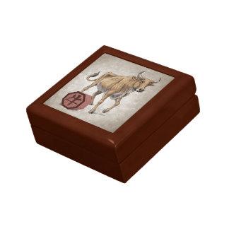 Year of the Ox Chinese Zodiac Animal Art Jewelry Box