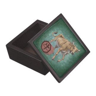 Year of the Ox Chinese Zodiac Animal Art Premium Jewelry Box