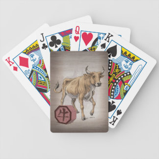 Year of the Ox Chinese Zodiac Art Bicycle Playing Cards