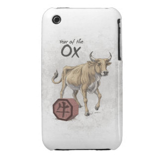 Year of the Ox Chinese Zodiac Art iPhone 3 Covers