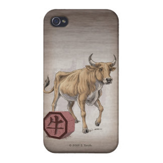 Year of the Ox Chinese Zodiac Art iPhone 4 Case