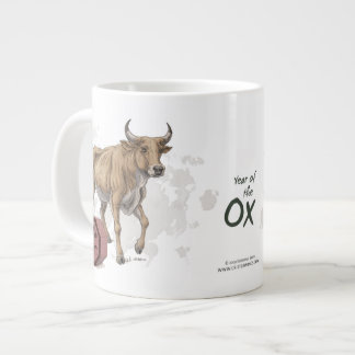 Year of the Ox Chinese Zodiac Art Large Coffee Mug