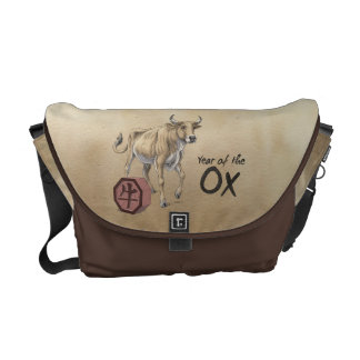 Year of the Ox Chinese Zodiac Messenger Bag