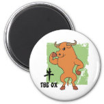Year Of The Ox Gift 2 Inch Round Magnet