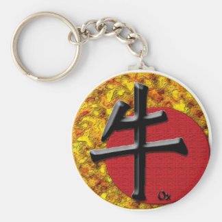 Year of the Ox: Gold and Red Keychains
