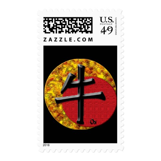 Year of the Ox: Gold and Red Postage