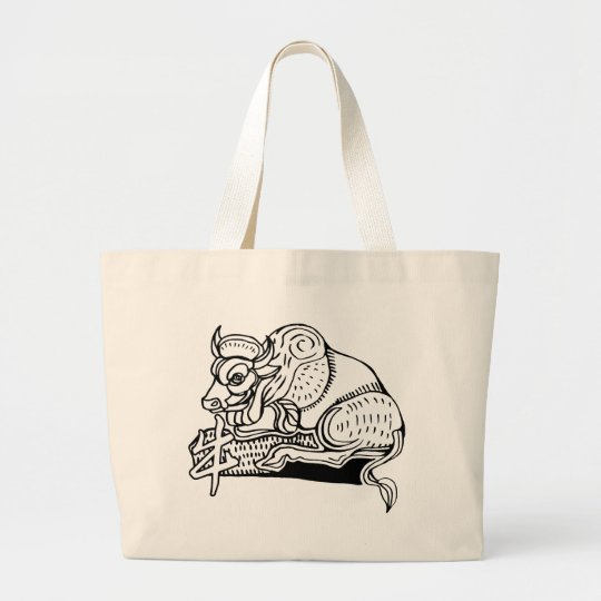 year of the ox large tote bag