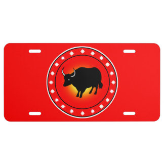 Year of the Ox License Plate