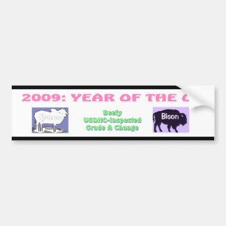 Year of the Ox: Obrahman & Bison Bumper Sticker