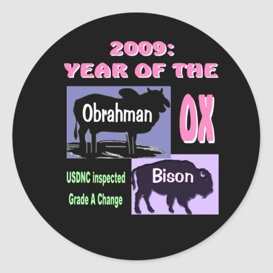 Year of the Ox: Obrahman & Bison Classic Round Sticker