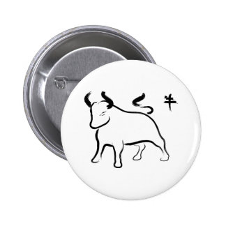 Year of the Ox Pinback Button