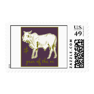 Year Of The Ox Postage Stamp