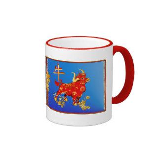 Year Of The Ox Ringer Mug