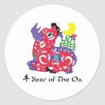 Year of The Ox T-Shirt & Gifts Round Sticker