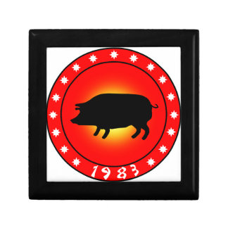 Year of the Pig 1983 Jewelry Box