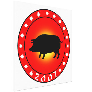Year of the Pig 2007 Gallery Wrap Canvas